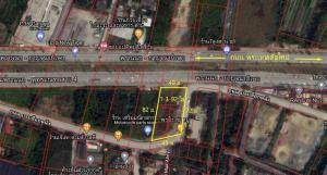 For SaleLandPinklao, Charansanitwong : Land for sale 792 square wah, next to Phrathep Road.