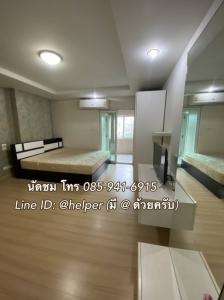 For SaleCondoRatchadapisek, Huaikwang, Suttisan : Garden view, ready to move 1.39 million, beautiful room, fully furnished Happy Condo Ratchada 18 (Happy Condo Ratchada 18)
