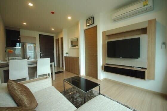For RentCondoOnnut, Udomsuk : 1777-A😊 For RENT 1 bedroom for rent 🚄 Near BTS On Nut just 1 minute (100 m.) 🏢 Rhythm Sukhumvit 50 Rhythm Sukhumvit 5 Area: 45.00 sq.m. 💲 Rent: 35,000.- baht บาท: 099 -5919653✅LineID: @sureresidence