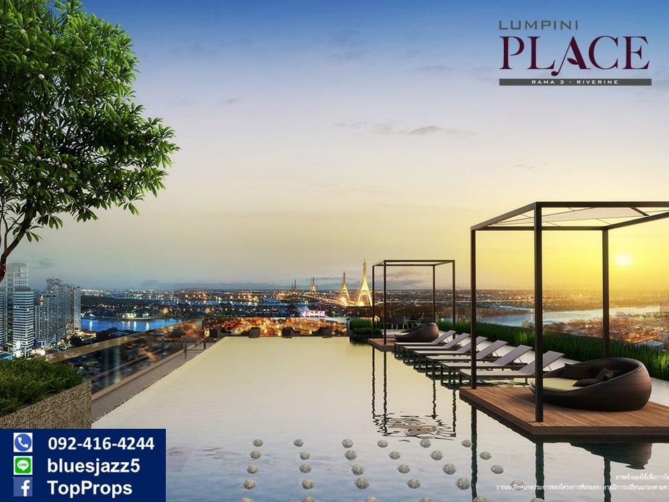 For SaleCondoRama3 (Riverside),Satupadit : Special Offer For Sale Lumpini Place Rama 3 Riverine 1Bed 29sqm Branded New Chao Phraya River View Rama3 Condo Near Bhumibol Bridge