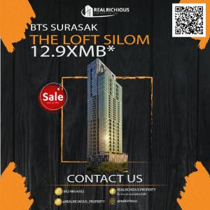 For SaleCondoSilom, Saladaeng, Bangrak : ✨ The Loft Silom ✨ Sell at a loss !! Cheapest in the project, best position This price can not be found again !!! Appointment to see line room: @realrichious