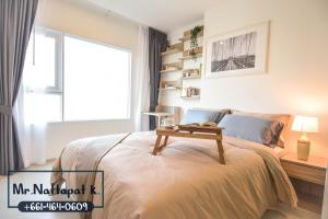For RentCondoSamrong, Samut Prakan : *** To rent a condo ready to move in ... Carrying one bag is enough !!! Aspire Erawan 1 bedroom, 1 bathroom, beautiful city view, 11th floor, full furniture, 29.92 square meters, just 1 step from the entrance to BTS Erawan. Next to Rama 2 Expressway And K