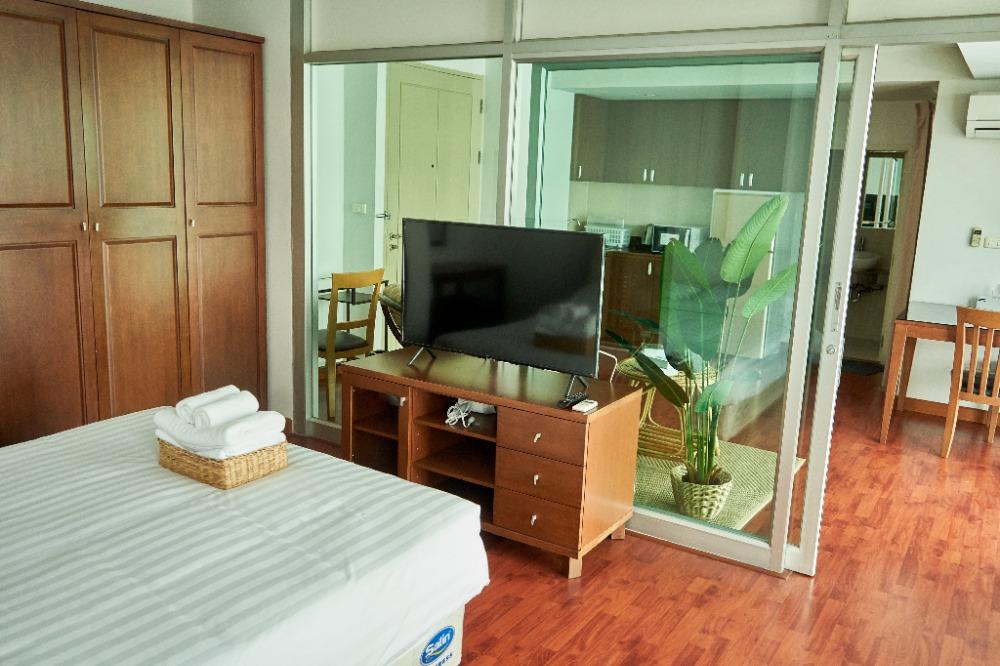 For RentCondoPattanakan, Srinakarin : ให้เช่า Bellevue Boutique Bangkok สวนหลวง พัฒนาการ เซอร์วิสอพาร์ทเม้นท์ [Deluxe Room 43sqm] ใกล้ Airport Link หัวหมาก