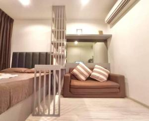 For RentCondoBangna, Lasalle, Bearing : Condo for rent, Ideo Mobi Sukhumvit Eastgate, beautiful room, near BTS Bangna, only 150 meters, ready to move in.