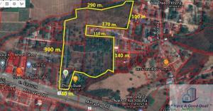 For SaleLandKorat KhaoYai Pak Chong : 42 rai of vacant land next to Mittraphap Road, Pak Chong, Nakhon Ratchasima
