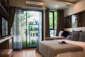 For RentCondoOnnut, Udomsuk : Condo for rent, The Excel Udomsuk, top floor, same floor with sky garden