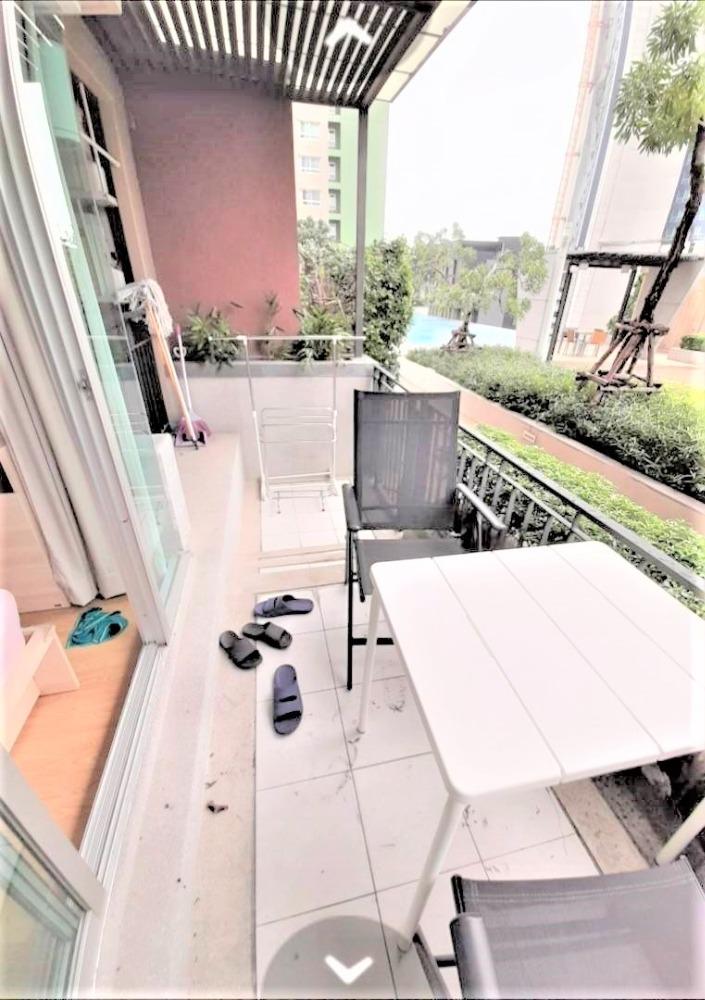 เช่าคอนโดพัฒนาการ ศรีนครินทร์ : 1/10 ให้เช่าด่วน คอนโด เจ้าของรีบปล่อย Lumpini Place Srinakarin - Huamak Station (ลุมพินี เพลส ศรีนครินทร์-หัวหมาก สเตชั่น) ราคา 15,000 บาท ขนาด 42 ตรม.ห้องนอน 1 ชั้น 8 ตึก B วิว สวน