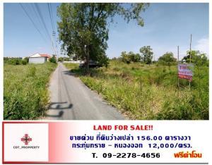 ขายที่ดินมีนบุรี-ร่มเกล้า : 【ขายด่วน】 ที่ดินว่างเปล่า เนื้อที่ 156.00 ตารางวา ที่ดินราคาถูกเหมาะสร้างบ้าน