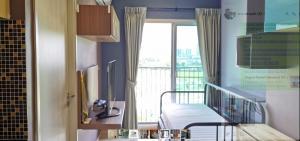 เช่าคอนโดรัชดา ห้วยขวาง : Condo Noble Revolve Ratchada ชั้น 8 พื้นที่ใช้สอยขนาด 27 ตารางเมตร 1 ห้องนอน