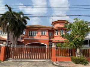 For RentHouseRangsit, Patumtani : House for rent, Passorn 2, Rangsit Klong 3, large house, 83 sq m, beautiful condition, very good location