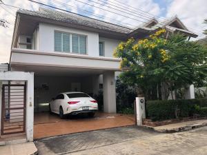 For RentHouseNakhon Pathom, Phutthamonthon, Salaya : House for rent at Anantathara Village, along the Thaweewattana canal, 3 bedrooms, 3 bathrooms, near Mahidol, can be accessed April 64, near Mahidol University.