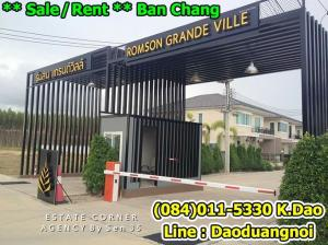 For SaleHouseRayong : Sale / Rent Ban Chang Detached house with modern style Romson Grande Ville 4 Bedrooms 4 Bathrooms