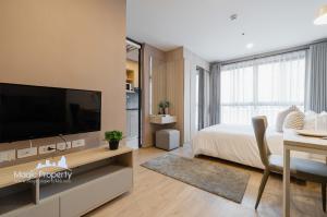 For RentCondoBangna, Lasalle, Bearing : Studio for rent, Ideo O2 Condominium, 1 bedroom, 26 sq.m., fully furnished, Bangna, Bangna, Bangkok