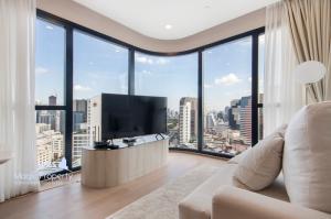 เช่าคอนโดสยาม จุฬา สามย่าน : ให้เช่า คอนโด แอชตัน จุฬา-สีลม (Ashton Chula-Silom Condominium) 2 ห้องนอน 55 ตร.ม. , เพียง 150 เมตร จาก MRTสามย่าน, สี่พระยา บางรัก กทม.