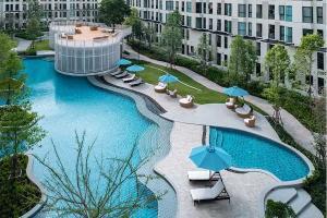 เช่าคอนโดบางนา แบริ่ง : 2 Bedroom for rent - Unio Sukhumvit 72, BTS แบริ่ง ห้องสวยเป็นสัดส่วน พักได้ 4 คน มีเตียง 2 ชั้น
