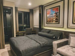 For RentCondoLadprao, Central Ladprao : ✅ For rent, Life Ladprao near MRT, size 26.5 sqm, complete with furniture and appliances ✅