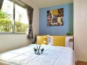 For RentCondoSamrong, Samut Prakan : ✅ For rent, Lumpini Mixx Thepharak - Srinakarin, near BTS, size 22 sqm, corner room with furniture and appliances ✅