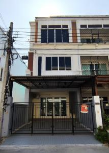 For SaleTownhouseRama5, Ratchapruek, Bangkruai : 3-storey townhome, renovated, corner room with decoration, special price 6.59 MB.