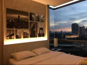 For RentCondoOnnut, Udomsuk : For Rent The Room Sukhumvit 69 near BTS Phra Khanong, ready to move in !! 11th floor, beautiful city view