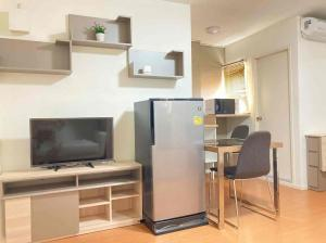 For RentCondoLadkrabang, Suwannaphum Airport : Overrated LPN Romklao-Suvarnabhumi 23 sq m. Tik A3, beautiful room, fully furnished + electrical appliances, ready to move 4,800