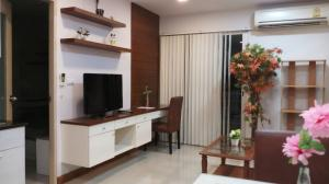 For RentCondoRama9, RCA, Petchaburi : For rent, the best price since having come !!! Beautiful room, high floor, City View, fully furnished + electricity, ready to move in (39 sq m.) @My Resort Bangkok