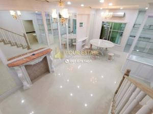 For RentTownhouseRama3 (Riverside),Satupadit : Townhome for rent, ready to move in, Baan Klangkrung Grande Rama3 - pet friendly, 3 bedrooms, fully furnished.