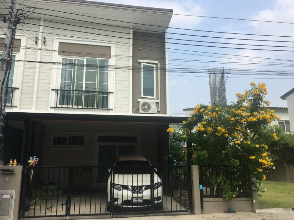 For SaleTownhouseRama5, Ratchapruek, Bangkruai : Quick sale, 2-storey townhome, Casa Waterside Village, Ratchapruek-Rama 5, good location, behind the corner