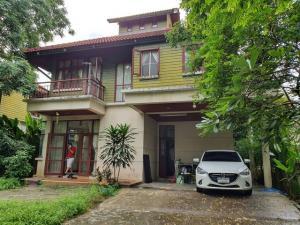 For RentHouseRama 2, Bang Khun Thian : RHT414 House for rent 2. Male village floor, canal near Rung Arun School Near Central Rama 2