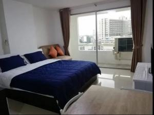 For SaleCondoRatchadapisek, Huaikwang, Suttisan : Urgent sale, Ratchada Orchid condo, near MRT Sutthisan, suitable for investment, can rent or live by yourself (S1803)