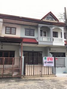 For SaleTownhouseRattanathibet, Sanambinna : 2 storey townhouse for sale, area 22 sq m, Suetrong, Rattanathibet Road, near Sai Ma MRT, cheap price.
