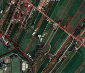 For SaleLandRangsit, Patumtani : Land for sale Sam Khok, Pathum Thani, area 22-3-97 rai, width 88 m., Depth 406 m.