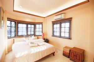 For RentHousePattanakan, Srinakarin : 1 storey detached house for rent, U Sabai Village, Thap Chang, Krungthep Kreetha, size 51 sq.w., 3 bedrooms, 3 bathrooms