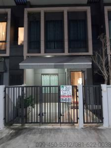 For RentTownhouseBangna, Lasalle, Bearing : For rent, PLENO Sukhumvit-Bangna Km.7, new house, best location, complete with furniture and air
