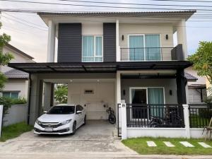 For SaleHouseLadkrabang, Suwannaphum Airport : AE64023 House for sale Centro Rama 9 - Motorway 52 sq m, 4 bedrooms, 3 bathrooms, fully furnished.