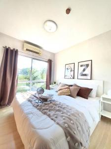 For SaleCondoOnnut, Udomsuk : Great value, beautiful room, cheap sale, A Space Condo Sukhumvit 77, newly decorated room, 35 sq m, only 1.59 MB (S1805).