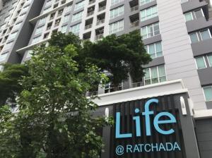 For RentCondoRatchadapisek, Huaikwang, Suttisan : Life @ Ratchada, Huay Kwang, MRT Huai Khwang, ready to move in, 41 sqm, 13500 baht.