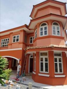 For RentHouseRangsit, Thammasat, Patumtani : For rent: Baan Passorn 2 Klong 3, 3 bedrooms, 3 bathrooms, 1 servant room, area 83 sq m. AN067.