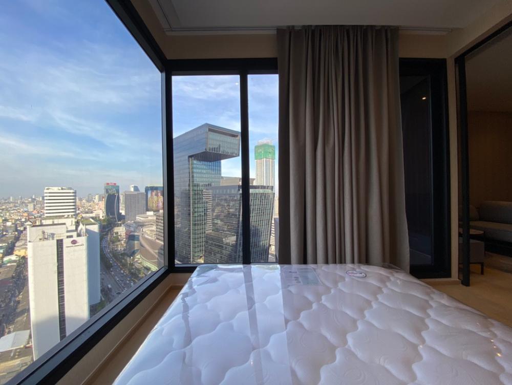 For RentCondoRama9, RCA, Petchaburi : ASHTON Asoke-Rama9, new room, special price, Alpha building, G Tower view, complete electrical appliances 30,999 baht