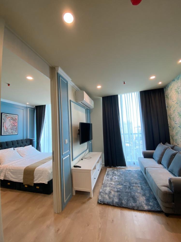 For RentCondoSukhumvit, Asoke, Thonglor : Condo for rent, Noble Recole, Sukhumvit 19, 27th floor, size 45 sqm., South balcony, near BTS Asoke, meeting 0845641596
