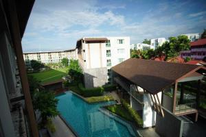 เช่าคอนโดเชียงใหม่-เชียงราย : C47CHK ให้เช่า D Condo campus resort Chiang Mai ห้องมุม วิวสระว่ายน้ำ หลังมช ใกล้นิมมาน สนามบิน