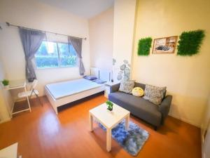For RentCondoLadkrabang, Suwannaphum Airport : Condo for rent, Lumpini Romklao-Suvarnabhumi, beautiful room, ready to move in, cute price