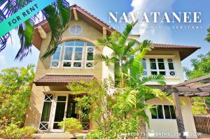 For RentHouseRamkhamhaeng Nida, Seri Thai : Luxury large single house 256 square meters for rent, Navatanee Village