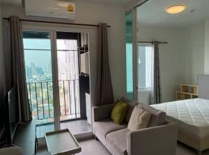 For RentCondoRatchadapisek, Huaikwang, Suttisan : For rent, CHAPTER ONE ECO, near MRT Huai Khwang, 20th floor, north, pool and city view