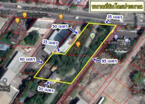 For SaleLandLadkrabang, Suwannaphum Airport : Land for sale in a beautiful plot, in a golden location, next to Chaloem Phra Kiat Rama 9 Road, just 1.5 km away from the BTS station, area 692 square wah.