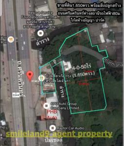 ขายที่ดินพัฒนาการ ศรีนครินทร์ : ขายที่ดินพร้อมตึกึชั้นติดถนนศรีนครินทร์ ใกล้สถานีห้างธัญญา0863557948