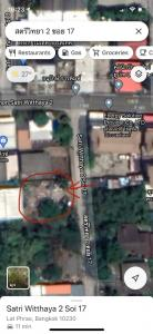 For SaleLandLadprao 48, Chokchai 4, Ladprao 71 : Land for sale, Soi Satriwithaya 2, Soi 17 (Ladprao 71), only 100 meters into the alley.