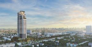 For RentCondoSukhumvit, Asoke, Thonglor : Maru Ekkamai 2, near BTS Ekkamai station, ready to move in, 29 sqm, prices start at 17000 baht.