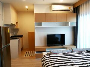 For RentCondoRatchadapisek, Huaikwang, Suttisan : For Rent🔥 Noble Revolve Ratchada (50 meters away from the Cultural Center MRT) Studio room area 23.5 sqm, high floor, north, not hot.