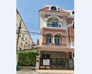 For SaleTownhouseKaset Nawamin,Ladplakao : 3-storey townhome, Casa City Village, Soi Sukonthasawat Near the corner flea market, 33.5 square meters, 3 bedrooms, 4 bathrooms, behind the corner