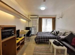 For RentCondoRama9, RCA, Petchaburi : Condo for rent 7000 i-House RCA 📣 Floor 5 🍀🍀 Newly decorated, beautiful, overpriced grip 🌟🌟 in the heart of RCA near Piyawet Hospital